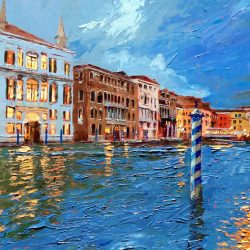 Painting 'Rialto Bridge, Venice' by Jeremy Sanders