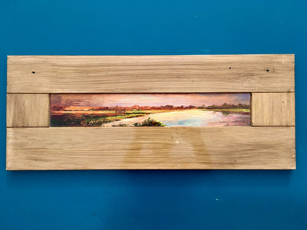 Thames Sunrise on Door Panel