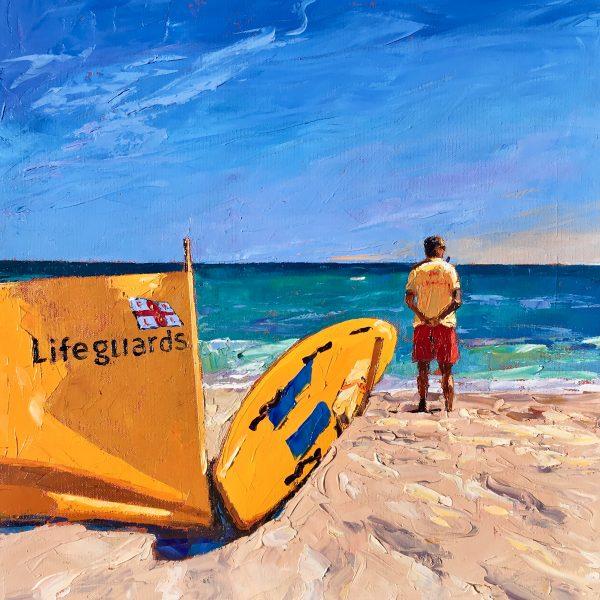 Swim between the Flags , Porthcurno Beach