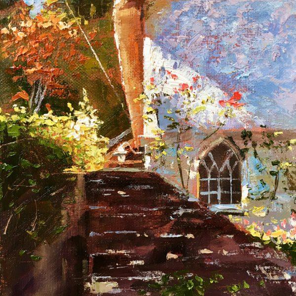 Rose covered cottage , Helford