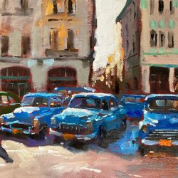 Blue Taxis Havana